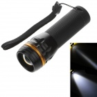 SF517 1-LED 3-Mode 240lm Convex Lens White Light Zooming Torch -- Black Plus Yellow ( 3 x AAA) (Torches - LED Category)