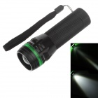 EL825 3-Mode 1-LED 240lm Convex Lens White Light Zooming Torch -- Black Plus Green ( 3 x AAA) (Torches - LED Category)