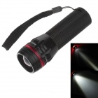 PU260 3-Mode 1-LED 240lm Convex Lens White Light Zooming Torch -- Black Plus Red ( 3 x AAA) (Torches - LED Category)