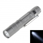 SM-ALL SUN-GD WZ834 30lm 6000K LED White Light 1-Mode Pen Hung Torch -- Silver Grey (1 X AAA) (Torches - LED Category)