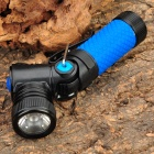 NEW 898A CREE XR E Q5 3 Mode 310LM White LED Torch with Rotation Head Blue (1 x 14500 / AA) (Torches - 14500 Cree Category)