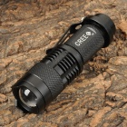 FE-IRSH-GD SA653 Cree XR-E Q5 100 to 260lm 3-Mode White Zooming Torch -- Black (1 x 14500 / AA) (Torches - 14500 Cree Category)
