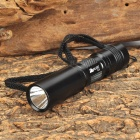 PA-LIGHT-GD GN696 Cree XR-E Q5 200lm 1-Mode White Torch -- Black (1 x 14500 / AA) (Torches - 14500 Cree Category)