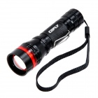 CO-FLY-GD VJ216 Cree XP-E R2 160lm 3-Mode White Zooming Torch -- Black Plus Red (1 x AA / 1 x 14500) (Torches - 14500 Cree Category)