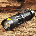 RU-STU-GD GA269 Cree XP-E Q5 180lm 1-Mode White Zooming Torch -- Black (1 x 14500 / AA) (Torches - 14500 Cree Category)