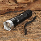 Ultra Fire ZF645 CREE XP-E Q5 100lm 3-Mode White Zooming Torch -- Black Plus Silver (1 x 14500 / AA) (Torches - 14500 Cree Category)