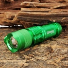 NW392 Sipik SK68-3W Cree XR-E Q3 160lm 1-Mode White Zooming Torch -- Green (1 x AA / 14500) (Torches - AA Cree Category)