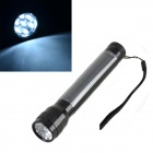 RJ281 HQ-L07 Solar Powered Self-Recharge 7-LED 40lm White Light Torch -- Black (Torches - Dynamo Category)